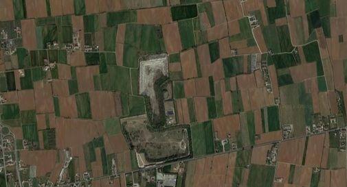 Veduta aerea dell'area di cava Baracche