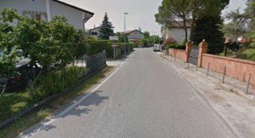 un'immagine di via Ghetto a Mogliano