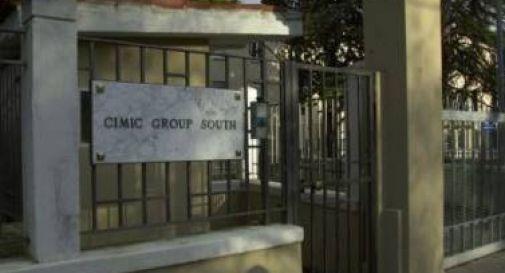 La caserma Fiore di Motta dove ha sede il Cimic Group