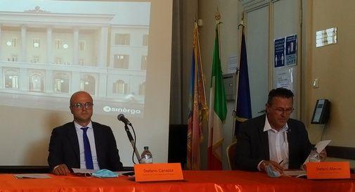 Il direttore del Conservatorio Steffani, Stefano Canazza, e il sindaco Stefano Marcon
