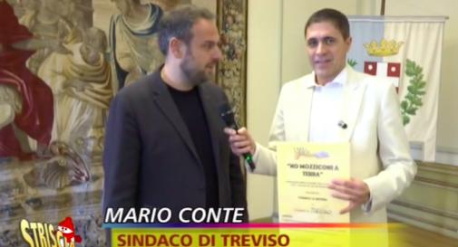 sindaco Mario Conte, Striscia la Notizia