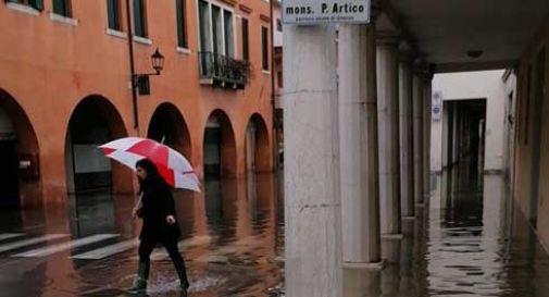 Bomba d'acqua ad Oderzo, le strade si trasformano in canali