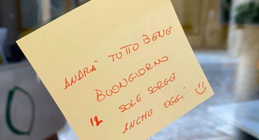 Andrà tutto bene: Vittorio Veneto si risveglia con messaggi di buon augurio