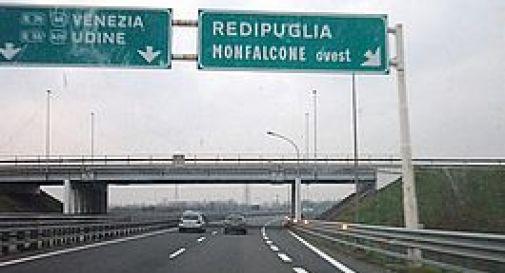 l'uscita per Redipuglia lungo l'autostrada A4