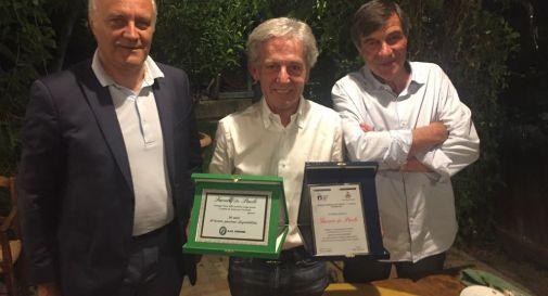 da sinistra il sindaco Paolo Speranzon, Paolo Favero e il presidente Bruno Foscan