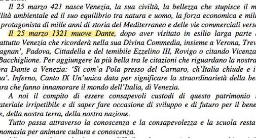 Data della morte di Dante sbagliata, polemica sull'assessore Donazzan