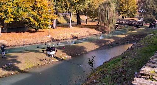 droni mura di Treviso