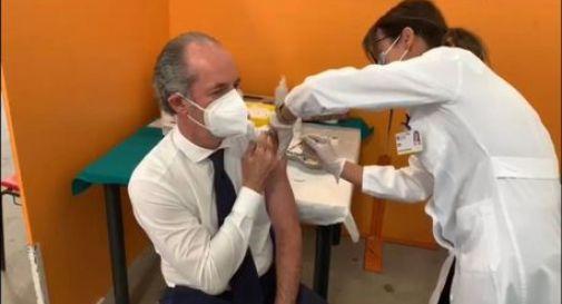 Luca Zaia si è vaccinato: prima dose di Pfizer