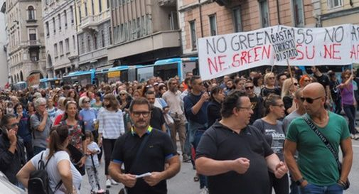 no-vax sfilato a Padova