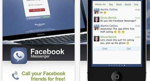 Facebook: da oggi anche chiamate vocali