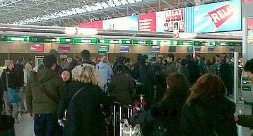 Fiumicino, caos all'aeroporto per guasto informatico Alitalia