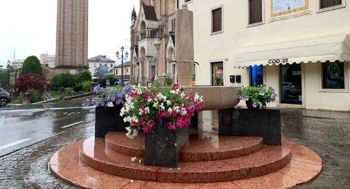 fontana restaurata a Pieve di Soligo