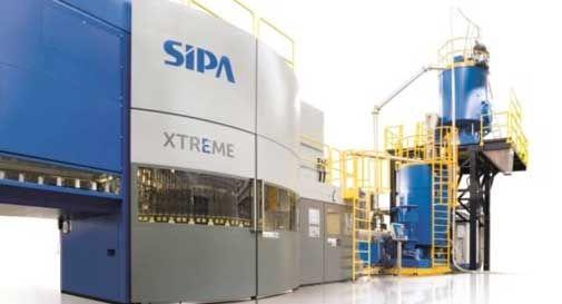 Sipa all'avanguardia nel mondo con un impianto per produrre bottiglie 100% rpet