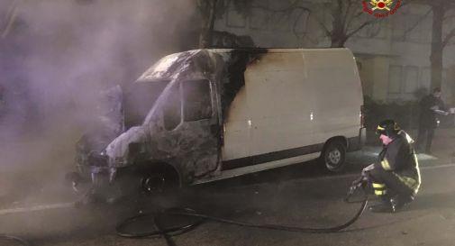 Furgone bruciato a Oderzo