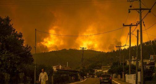 Incendi Grecia, sull'isola di Evia