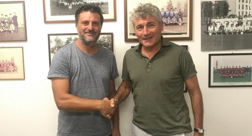 i responsabili dei settori giovanili di Treviso Ac. e Indomita 71, Angelo Vernucci e Settimio Stallone