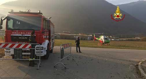 Bosco a fuoco a Valmareno, fiamme spente