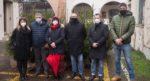 Nella foto, da sinistra: Maurina Sessolo, Gianpaolo Vallardi, Maria Scardellato, Alessio Bianco, Ercole Girotto, Oscar Sutto