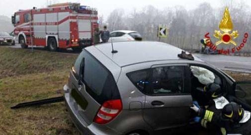 Brutto incidente a Conegliano, quattro feriti in ospedale