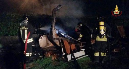 Treviso, uomo morto carbonizzato dentro la roulotte
