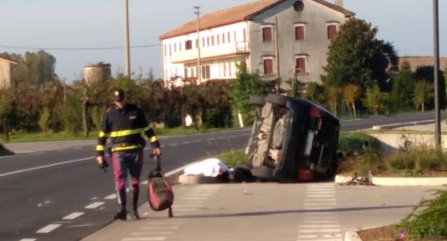 l'incidente di oggi a Salgareda