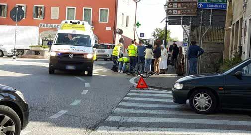 Pieve di Soligo, giovane ciclista travolto in via Vaccari