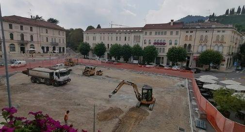 lavori riqualificazione di Piazza Marconi a Valdobbiadene