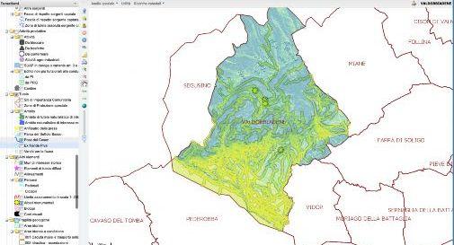 Valdobbiadene cartografia digitale SIT