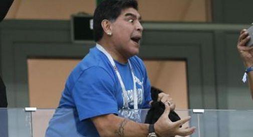 Malore per Maradona