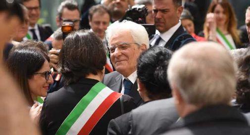 Grande e calorosa accoglienza per il Presidente Mattarella