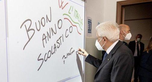 Presidente Mattarella inaugura anno scolastico (Adn Kronos)