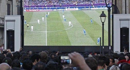 Partita calcio maxi schermi