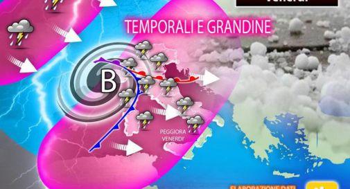 Piogge e temporali da Nord a Sud, previsioni di oggi e del weekend