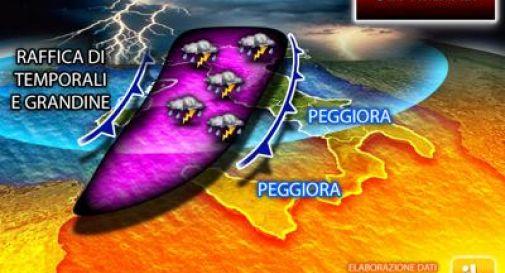 Arriva il maltempo: temporali e grandine