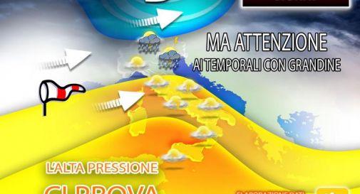 Estate lontana, ancora temporali con grandine: previsioni meteo