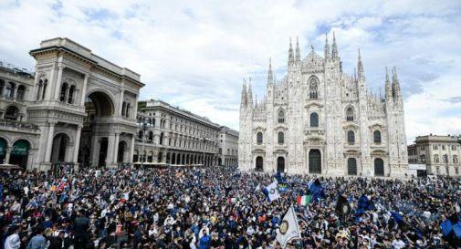 Inter scudetto, 30mila persone in piazza a Milano