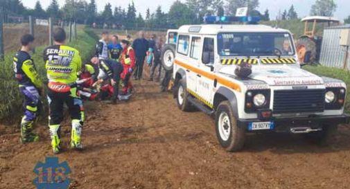 Incidente sulla pista di motocross a Crespano, un uomo è rimasto ferito gravemente