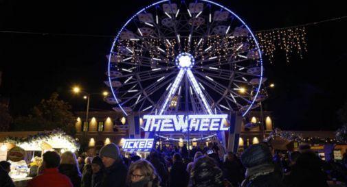 Parte ufficialmente  il Natale a Conegliano, la ruota panoramica è stata accesa