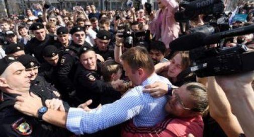 Proteste anti-Putin, arrestato Navalny