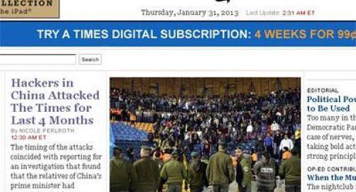 La denuncia del 'New York Times': ''Da 4 mesi siamo vittima di hacker cinesi''