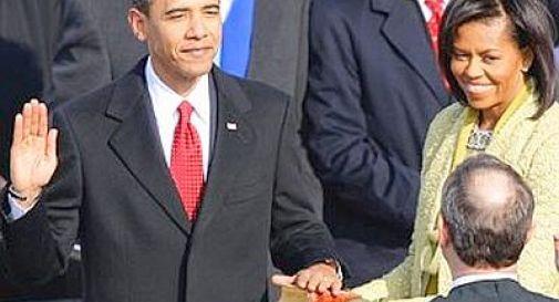 Usa, Obama giura da Presidente