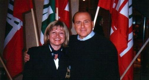 Letizia Ortica con Berlusconi