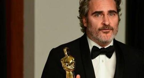 Joaquin Phoenix da Oscar, salva mucca e vitellino