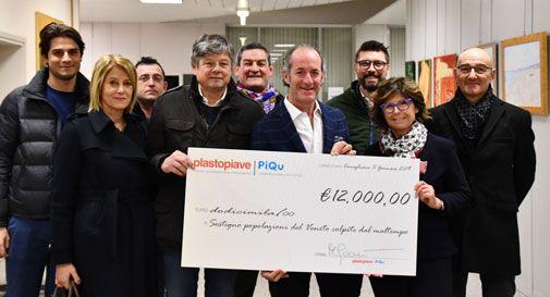 I dipendenti regalano ore di lavoro, azienda di Conegliano dona 12mila euro per le popolazioni colpite dal maltempo