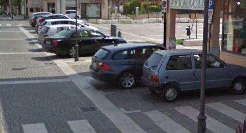 il parcheggio a Meduna