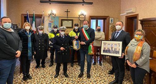 Celebrazione San Sebastiano, patrono della Polizia Locale, con la partecipazione del sindaco Davide Bortolato