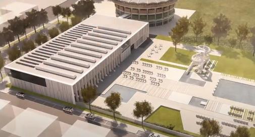 Rendering del nuovo impianto natatorio a Castelfranco