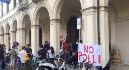 """""""No ai polli"""", sit-in in apertura del consiglio comunale"""