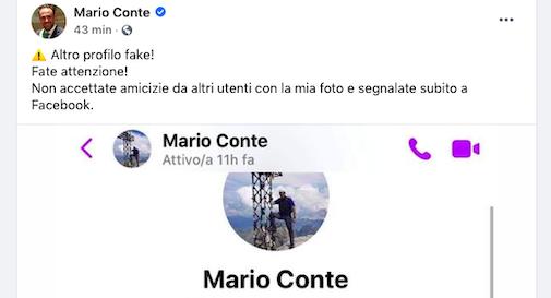 Falso profilo Fb sindaco Conte