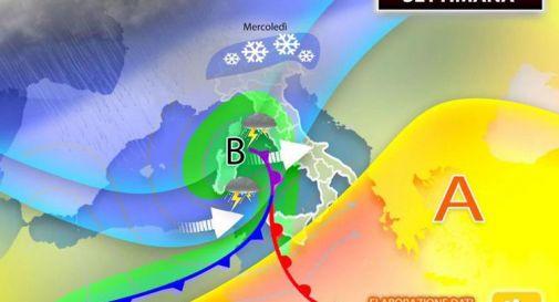Piogge e temporali da lunedì 8 marzo: ecco dove